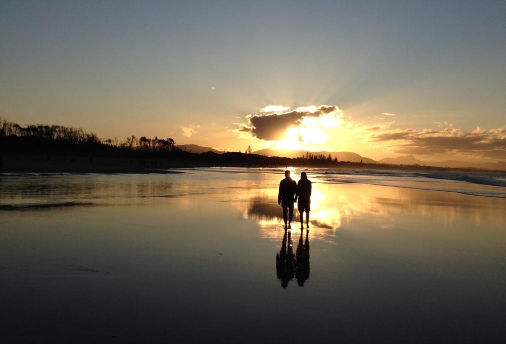 Byron Bay Sonnenuntergang