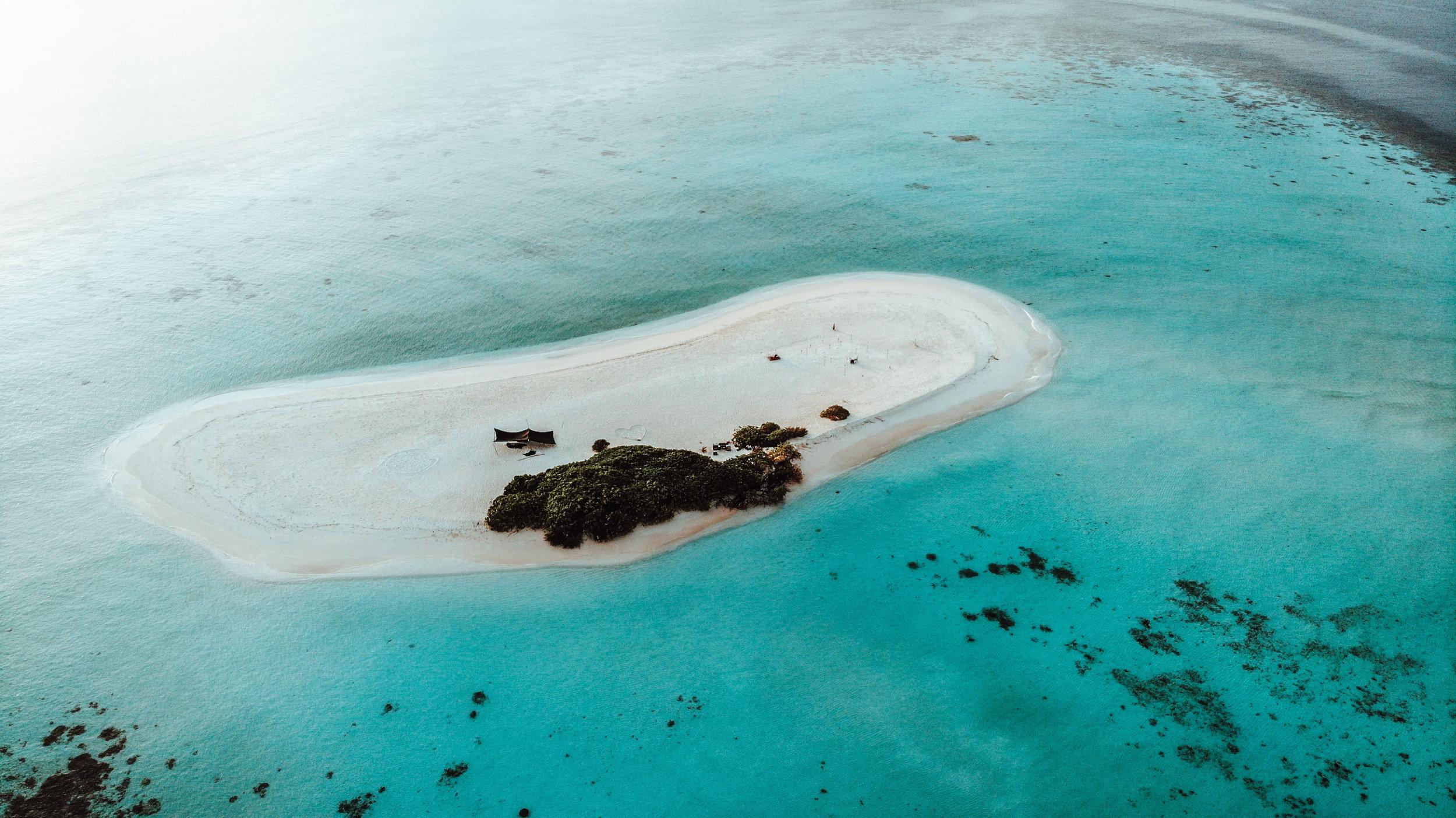 Private Insel auf den Malediven