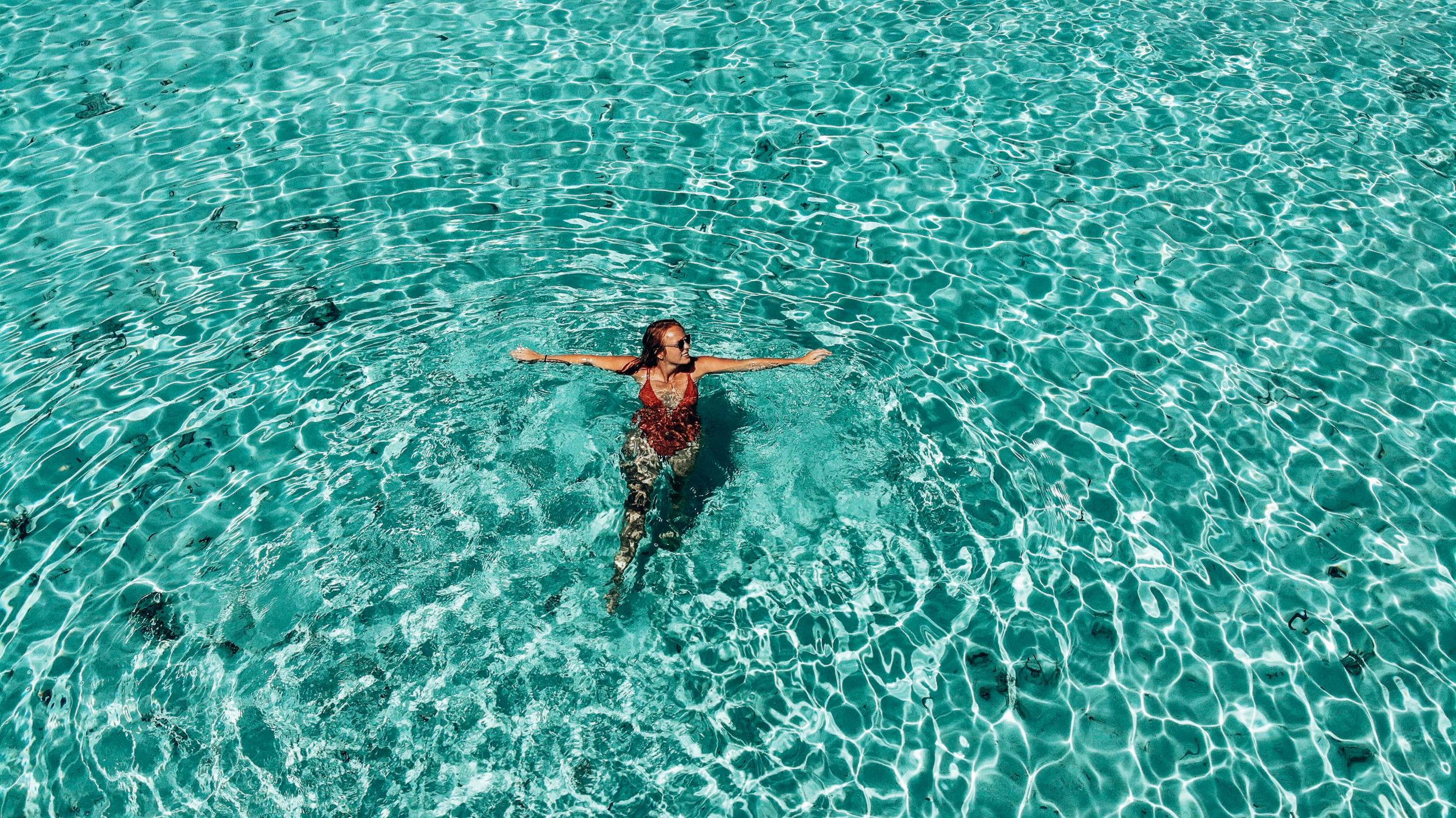 Türkises Meer auf den Malediven