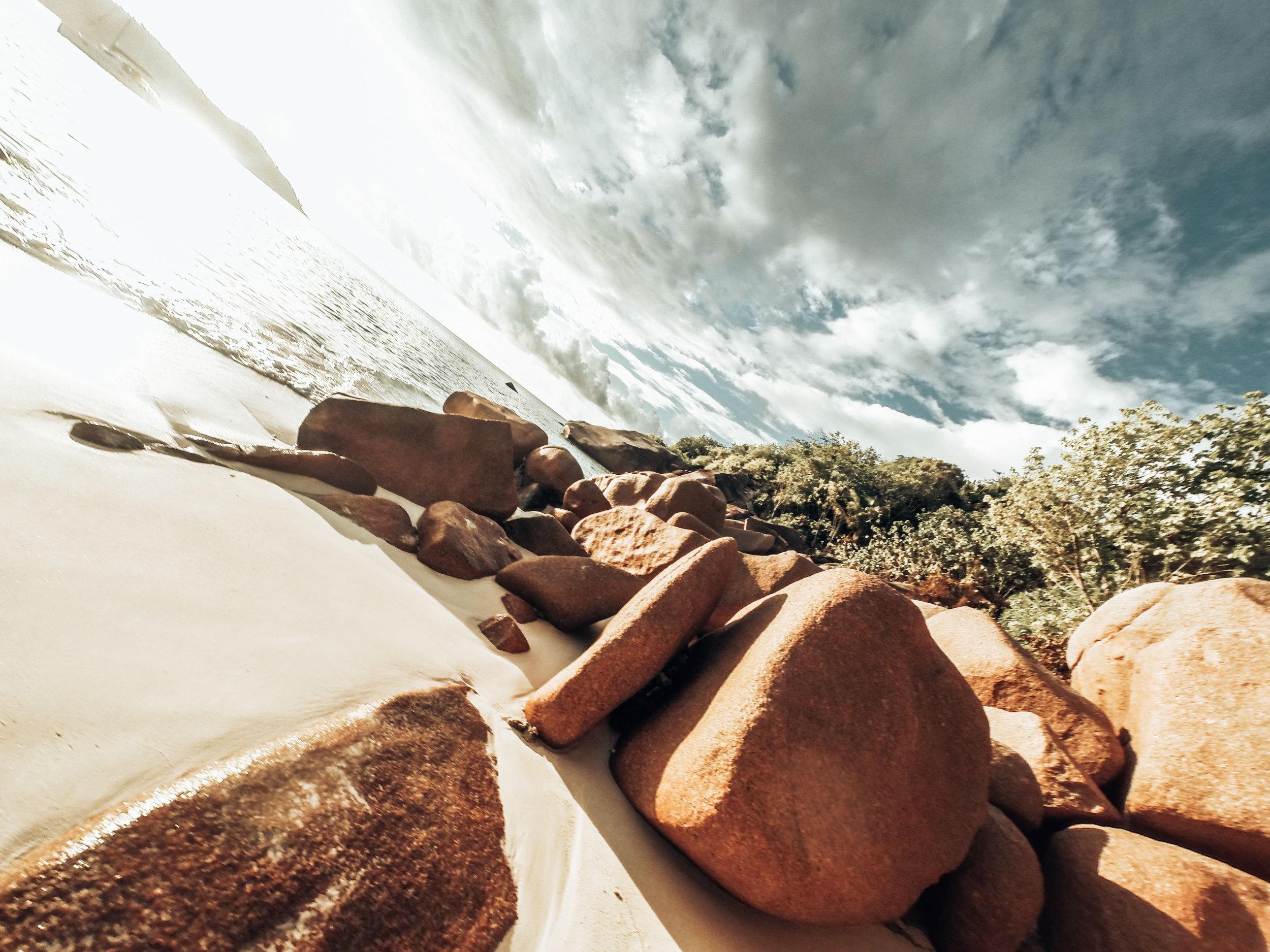 Granitfelsen Strand Seychellen